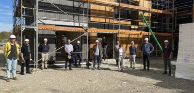 Mitglieder des AK Bau und der Stadtratsfraktion zu Besuch bei CampusRO
